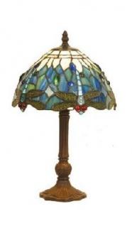 WOHNAMBIENTE Tiffany Tischlampe Art.-Nr.: DT 23 + P 933 S Schirm d= 25 cm, Leuchtenhöhe 32 cm, Fassung 1 x E14.