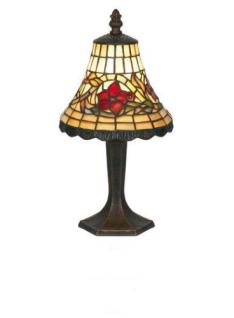 WOHNAMBIENTE Tiffany Tischlampe Art.-Nr.: YT 07 + P 7477 z. Zt. 3 St. lieferbar Schirm d= 16 cm, Leuchtenhöhe 32 cm, Fassung 1 x E14.