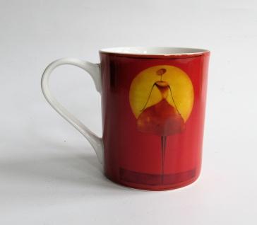 """WOHNAMBIENTE Porzellan-Tasse , Geschirr Art.-Br.: O 101 Porzellantasse """" Clair de lune 1"""" von ONA. Maße: 9, 5 cm, d= 8 cm."""