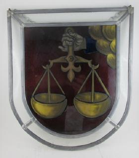 Wohnambiente Runkel Fenster-Bild, Die Waage der Justitia