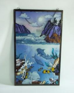 WOHNAMBIENTE Fensterbilder Art.-Nr.: GBM 153 Größe 32 x 62 cm (BxH), handgemalt.