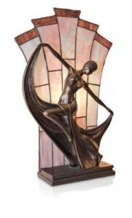 WOHNAMBIENTE Tiffany-Lampe, Tischlampe Art.-Nr.. NPA 18680 Maße: Breite = 27 cm, Leuchtenhöhe 48 cm, Fassung 1 x E14.