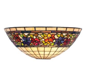 WOHNAMBIENTE Tiffany Wandlampe Art.-Nr.: LPW 03 Schirm b= 30 cm, h= 15 cm, Fassung 1 x E27