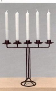 WOHNAMBIENTE Kerzenständer, Kerzenhalter Art.-Nr.: 30948 Maße: Breite 33 cm, Höhe 29 cm, Fuß d= 10 cm.