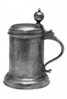 WOHNAMBIENTE Zinnkrug, Bierkrug Art.-Nr.: 1-245 Maße: Höhe 22 cm, Volumen 1, 0 ltr.