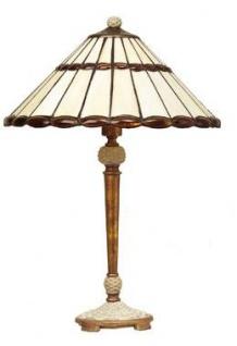 WOHNAMBIENTE Tiffany Tischlampe Art.-Nr.: CT 33 + LPT 5405-1 AS Schirm d= 33 cm, Leuchtenhöhe 49 cm, Fassung 1 x E27
