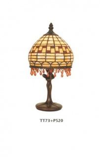 WOHNAMBIENTE Tiffany Tischlampe Art.-Nr.: TT 73 + P 520 z. Zt. 2 St. lieferbar Schirm d= 17 cm, Leuchtenhöhe 32 cm, Fassung 1 x E14