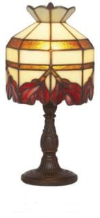 WOHNAMBIENTE Tiffany Tischlampe Art.-Nr.: Y 101 z. Zt. 3 St. lieferbar Schirm d= 15 cm, Leuchtenhöhe 31 cm, Fassung 1 x E14.