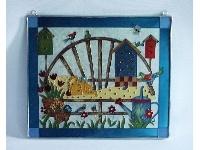 WOHNAMBIENTE Fensterbilder Art.-Nr.: GBM 159 Größe 31 x 27 cm, handgemalt.
