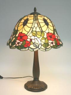 WOHNAMBIENTE Tiffany Tischlampe Art.-Nr.: TX 120001 Schirm d= 38 cm, Leuchtenhöhe 58 cm, Fassung 1 x E27