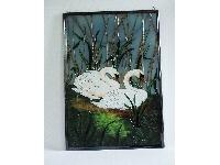 WOHNAMBIENTE Fensterbilder Art.-Nr.: GBM 169 Größe 36 x 51 cm (BxH), handgemalt.