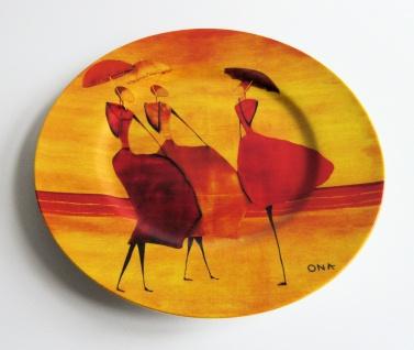 """WOHNAMBIENTE Porzellan, Geschirr Art.-Nr.: O 115 Dessertteller """"Flanerie"""" von Ona Maße: d= 21, 5 cm."""