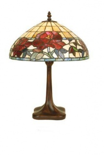 WOHNAMBIENTE Tiffany Tischlampe Art.-Nr.: DT 34 + P 25 Schirm d= 36 cm, Leuchtenhöhe 46 cm, Fassung 1 x E27