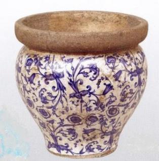 WOHNAMBIENTE Keramik-Vase Art.-Nr.: 6129 Maße: d= 21 cm, Höhe 21 cm.