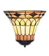 WOHNAMBIENTE Tiffany Wandlampe Art.-Nr.: LPW 10805 Schirm b= 31 cm, h= 26 cm, Fassung 1 x E27 - Vorschau