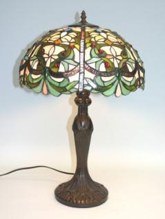 WOHNAMBIENTE Tiffany Tischlampe Art.-Nr.: TX 311 L-16 Schirm d= 38 cm, Leuchtenhöhe 60 cm, Fassung 1 x E27