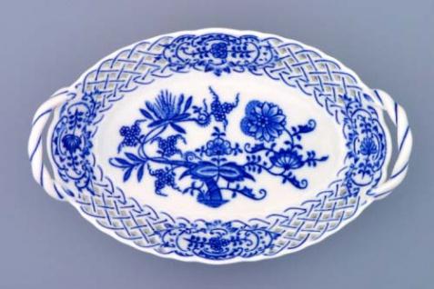 WOHNAMBIENTE Porzellan, Geschirr Art.-Nr.: CB 147, KörbchenII, durchbrochen. Maße: 19 x 12 cm, h= 4 cm,