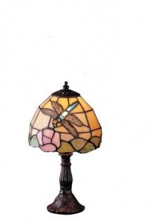 WOHNAMBIENTE Tiffany Tischlampe Art.-Nr.: LP 361 z. Zt. 3 St. lieferbar Schirm d= 16 cm, Leuchtenhöhe 29 cm, Fassung 1 x E14