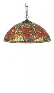 WOHNAMBIENTE Tiffany Tischlampe Art.-Nr.: Y 16290 + C2 Schirm d= 40 cm, Kettenlänge incl. Baldachin 60 cm, Fassung 2 x E27.