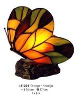 WOHNAMBIENTE Tiffany Tischlampe Art.-Nr.: LT 1204 (O) Maße: Fassung 1 x E14, max. 15 Watt. Lieferung komplett mit Leuchtmittel.