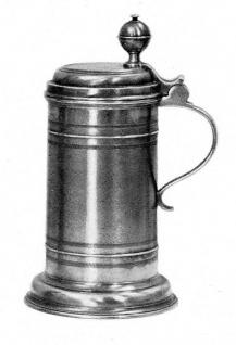 WOHNAMBIENTE Zinnkrug, Bierkrug Art.-Nr.: 1-245 Maße: Höhe 22 cm, Volumen 1, 0 ltr. - Vorschau 2