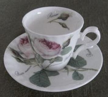 WOHNAMBIENTE Porzellan, Geschirr Art.-Nr.: 904 2-tlg. Espresso-Gedeck (Tasse und Untertasse) Maße: Tasse d= 7 cm, h= 6 cm, U-Tasse d= 12, 5 cm,