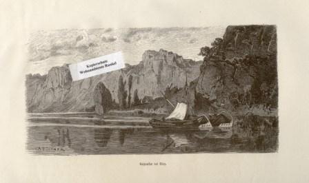 WOHNAMBIENTE Art.-Nr.: ST 79 Holzstich von R. Püttner um 1875, Signatur unten rechts, vermutlich aus: Illustr. Zeitung, Bildgröße 18, 8 x 9, 3 cm.