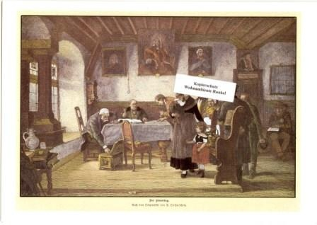 WOHNAMBIENTE Art.-Nr.: ST 22 Reproduktionsgrafik nach dem Ölgemälde von H. Oehmichen. Blattgr. 21 x 15 cm. Gemalt 1877.