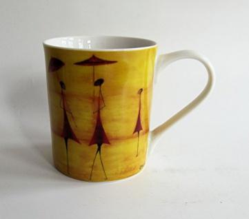 "WOHNAMBIENTE Porzellan, Geschirr Art.-Nr.: O 117 Porzellantasse "" Fourmies a l'ombrelle"" von ONA. Maße: 9, 5 cm, d= 8 cm."