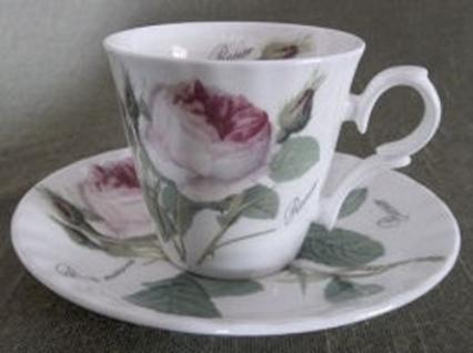 WOHNAMBIENTE Porzellan, Geschirr Art.-Nr.: 904 2-tlg. Espresso-Gedeck (Tasse und Untertasse) Maße: Tasse d= 7 cm, h= 6 cm, U-Tasse d= 12, 5 cm, - Vorschau 2