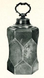 WOHNAMBIENTE Zinn-Schraubflasche Art-Nr.: 1-289 Maße: Höhe 27 cm, Volumen 2, 7 ltr.