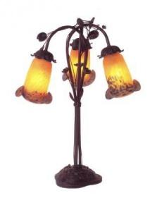 WOHNAMBIENTE Tischlampe Tischleuchte Art.-Nr.: L 103 + 405 OB Maße: d= ca. 46 cm, Höhe 50 cm.