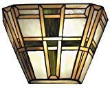 WOHNAMBIENTE Tiffany-Lampe Art.-Nr.: TT 95 Maße: Schirmbreite 31 cm, Ausladung 11 cm, Höhe 19 cm.
