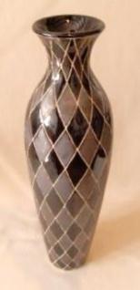 WOHNAMBIENTE Keramik-Vase Art.-Nr.: K 32 Maße: d= 13 cm, Höhe 46 cm, Öffnung 5 cm