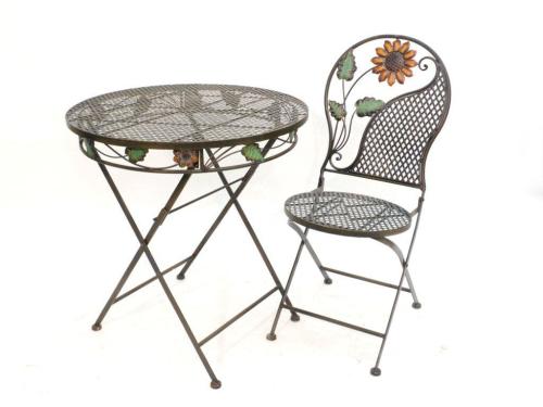 WOHNAMBIENTE Gartenmöbel Art.-Nr.  18083 Maße  Sitz d= 38 cm, Lehne h= 92 cm,
