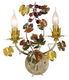 WOHNAMBIENTE Wandlampe Wandlüster Art.-Nr.: AP 636/2 Maße: Breite 34 cm, Höhe 27 cm,