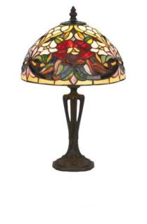 WOHNAMBIENTE Tiffany Tischlampe Art.-Nr.: YT 27 + PBLM 11 S Schirm d= 25 cm, Leuchtenhöhe 41 cm, Fassung 1 x E27