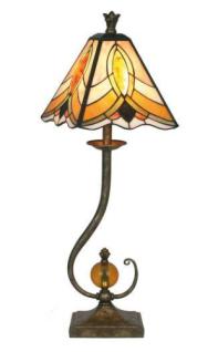 WOHNAMBIENTE Tiffany-Lampe, Tischlampe Art.-Nr.: YT 02 Schirm d= 23 cm, Leuchtenhöhe 71 cm, Fassung 1 x E14