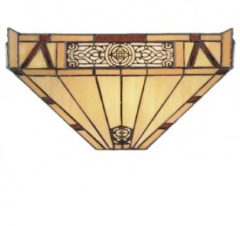 WOHNAMBIENTE Tiffany-Lampe WYT 29 Kreation Tiffany Wandlampe Maße: Schirmbreite 36 cm, Ausladung 13 cm, Höhe 18 cm.