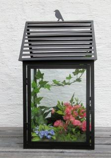 WOHNAMBIENTE Mini-Gewächshaus Art.-Nr.: 46296 B Maße: 28 x 19 cm (Dachmaße). Seiten verglast.