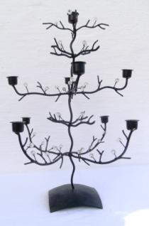 WOHNAMBIENTE Kerzenständer, Kerzenhalter Art.-Nr.: 20060 Maße: Gesamtbreite 36 x 36 cm, Höhe 46 cm.