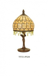 WOHNAMBIENTE Tiffany-Lampe, Tischlampe Art.-Nr.: TT 72 + P 520 z. Zt. 1 St. lieferbar Schirm d= 17 cm, Leuchtenhöhe 32 cm, Fassung 1 x E14