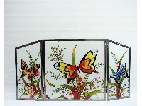 WOHNAMBIENTE Fensterbilder Art.-Nr.: GBM 182 Größe 62 x 31 cm (BxH), handgemalt. 3-teiliges Glasbild.
