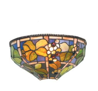 WOHNAMBIENTE Tiffany Wandlampe Art.-Nr.: TT 52 Schirmbreite 31 cm, Höhe 15 cm, Fassung 1 x E27