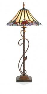 WOHNAMBIENTE Tiffany-Lampe Art.-Nr.: RC 435 + YT 01 P Maße: d= 40 cm, Leuchtenhöhe 84 cm, , Fassung 2 x E27.