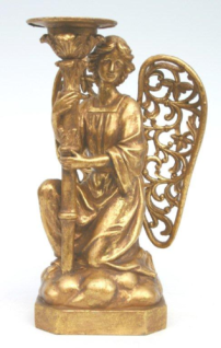 WOHNAMBIENTE Kerzenständer, Kerzenhalter Art.-Nr.: 10133 W Maße: 18, 5 x 31, 0 x 14 cm (BxHxT)