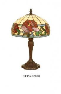 WOHNAMBIENTE Tiffany Tischlampe Art.-Nr.: DT 35 + P 2080 Schirm d= 25 cm, Leuchtenhöhe 39 cm, Fassung 1 x E14