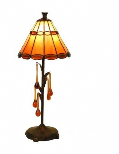 WOHNAMBIENTE Tiffany Tischlampe Art.-Nr.: LPT 4023 + GTD 0245 Schirm d= 20 cm, Leuchtenhöhe 45 cm, Fassung 1 x E14