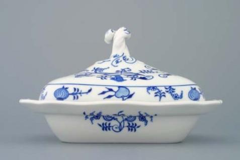 WOHNAMBIENTE Porzellan, Geschirr Art.-Nr.: CB 084, Ragout-Topf mit Deckel, klein Maße: Volumen 0, 4 ltr. , 25 x 20 cm, h= 15 cm, Form oval