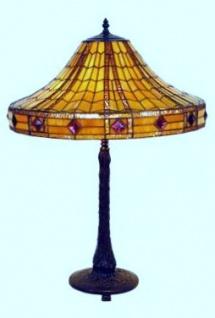 WOHNAMBIENTE Tiffany Tischlampe Art.-Nr.: DT 30 + P 3035 Schirm d= 50 cm, Leuchtenhöhe 72 cm, Fassung 2 x E27